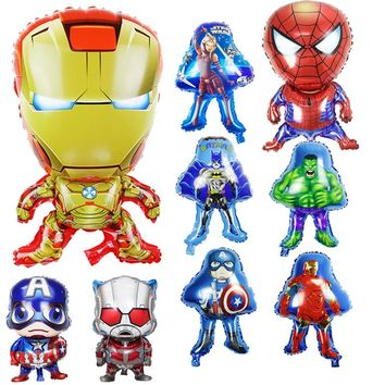 1pc Avengers Spiderman Ironman Captain America Printing Foil Balloons Birthday Party Decoration Kids Baby Shower Children Gifts