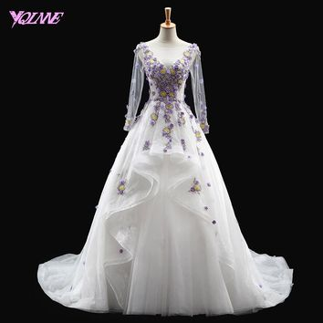 YQLNNE White Quinceanera Dresses Debutante Gown Sweet 16 Dress Tulle Lace-up Vestidos De 15 Anos