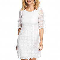 Chris McLaughlin Allover Lace A-line Dress