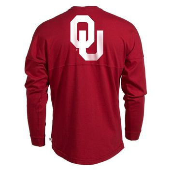 Black Official NCAA University Of Oklahoma Sooners Ou Boomer Sooner Women's Long Sleeve Spirit Wear Jersey T-Shirt