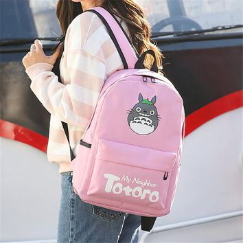 Anime Totoro Backpack 3D printing Cosplay computer Backpacks School Bags for Teenager Girls Kawaii Mochila Feminina
