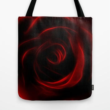 Eternal love red rose Tote Bag by Laureenr