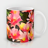 Painted Fall Flower Bouquet Mug by KCavender Designs