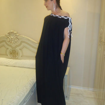 NEW SPRING Collection Kaftan Hand Knitted decorations Plus size dress Party dress Summer Kaftan Long dress  Everyday dress Free Shipping