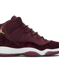 HCXX Air Jordan 11  Retro Maroon Heiress Velvet GS