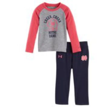 Under Armour Girls' Infant Notre Dame Cheer Cheer Pant Set