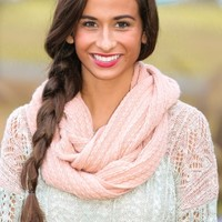 A Few Of My Favorite Things Infinity Scarf-Blush