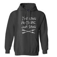 You Know Nothing Jon Snow Game of Thrones hoodie for Mens Hoodie and Womens Hoodie ***