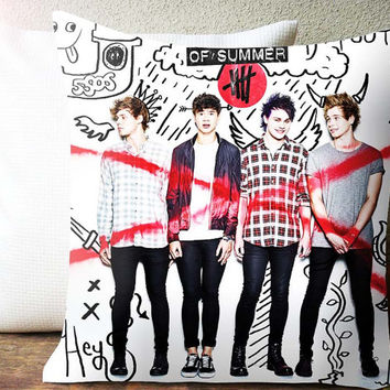 5sos high school collage Decorative Pillow and Pillow Case For 16 x 16 Inches and 18 x 18 Inches One / Two Side