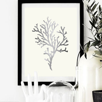 Coral Print, Coral Wall Art, Wall Decor, Wall Art, Minimal Wall Art, Botanical Print, Plant Wall Art, Plant Poster, Home Decor.