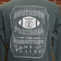 J.R. Crider's Clothing & Apparel — The Long Sleeve Southern Football Tee