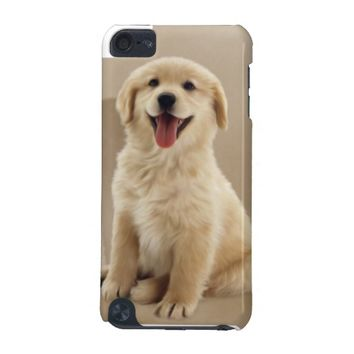 a cute golden Retriever Puppy iPod Cases