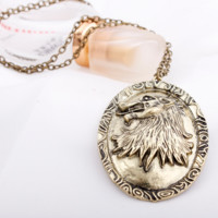 New Necklace A Song of Ice and Fire Direwolf Necklace Wolf Necklace Game of Thrones