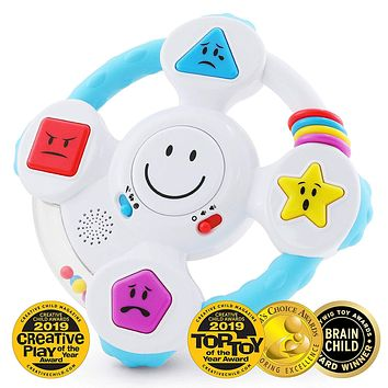 Baby, Toddler Educational Interactive Light Up Spin & Learn Steering Wheel Toy