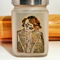 The Joker Etched Glass Stash Jar - Batman Inspired- Free UPGRADE to Priority Shipping within the US