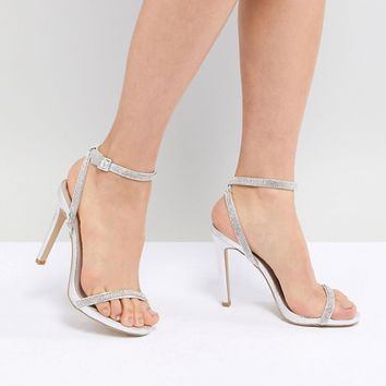 New Look Heatseal Barely There High Heeled Sandal at asos.com