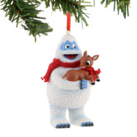 Bumble Holding Rudolph Christmas Tree Ornament