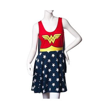 Womens Wonder Woman Skater Dress