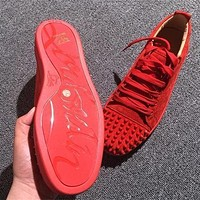 Cl Christian Louboutin Low Style #2061 Sneakers Fashion Shoes - Sale