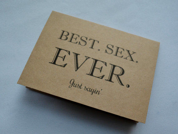 BEST S#X EVER Funny Valentine Day Card Valentine Day Card Romance Card  Dirty Card