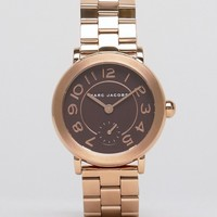 Marc Jacobs Rose Gold Riley Watch MJ3489 at asos.com