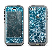 The Glowing Blue Cells Apple iPhone 5c LifeProof Nuud Case Skin Set