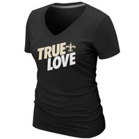 Nike New Orleans Saints Ladies True Love Premium T-Shirt - Black