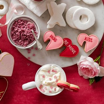 Williams Sonoma Valentine's Day Strawberry Heart Hot Chocolate