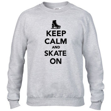 Keep calm and Skate on1 Crewneck sweatshirt