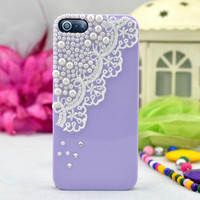 Pearl Lace iPhone 4 4s Case iPhone Case by fashioniphonedesigne
