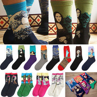 Women Socks Mural Art Casual Socks Men Graffiti Unisex Socks Paintings Socks R