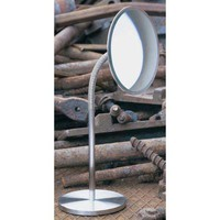 WS Bath Collections SUNNY-FREE-SS Sunny Stainless Steel Free-Standing Magnifying Mirror