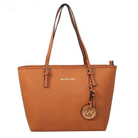 shosouvenir : MK Women Shopping Bag Leather Tote Handbag Shoulder Bag