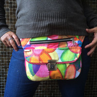 "Exclusive handmade Fanny Pack - Waist Bag - Handbag ""Happiness"". From Barcelona with love! Unique Piece (943)"