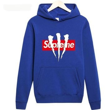 CREYCG8 supreme A long sleeved couples dress Hoodie