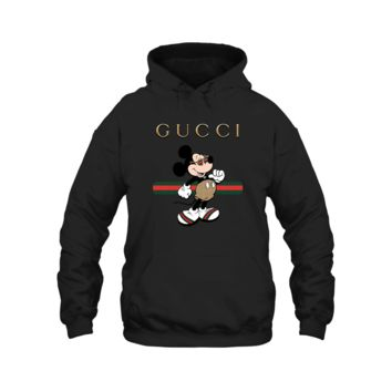 AUGUAU Gucci Stripe Mickey Mouse Stay Stylish Hoodie