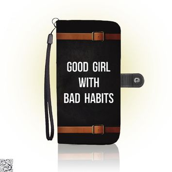 Good Girl With Bad Habits, Funny Wallet Case