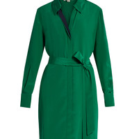 Bi-colour silk shirtdress | Diane Von Furstenberg | MATCHESFASHION.COM US