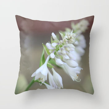 Foxglove Penstemon Throw Pillow by Theresa Campbell D'August Art