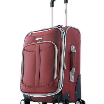 """Olympia Tuscany 21"""""""" Expandable Outdoor Travel Carry-on Luggage Suitcase in Red"""