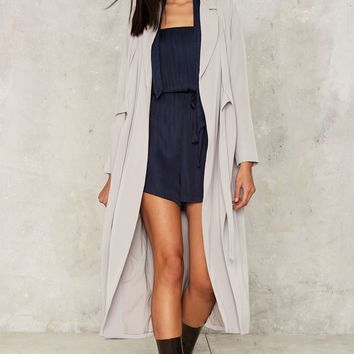 Lavish Alice Slate to the Party Double Layer Coat