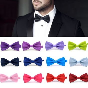 Fashion 1PC Gentleman Men Classic Satin Bowtie Necktie For Wedding Party Adjustable Bow tie knot