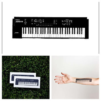 Keyboard  temporary tattoo Set of 2 by Tattify on Etsy