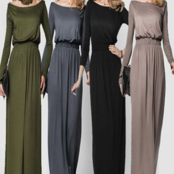 Elegant long sleeve maternity dresses for photo shoot - CCO45