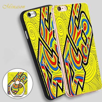 Minason pauelo valentino rossi vr46 Mobile Phone Shell Soft TPU Silicone Case Cover for iPhone X 8 5 SE 5S 6 6S 7 Plus