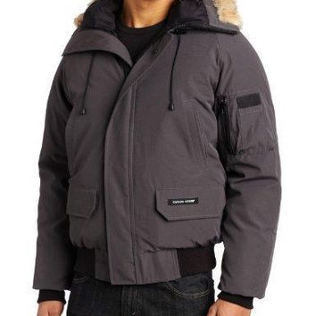 Canada Goose Men's Chilliwack Front Zip Jacket With Fur Trimmed Hood| Best Deal Online