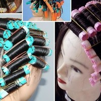 2bags(16-20pcs)/lot Cold Perm Rod Hair Curlers Rollers Plastics Hollow Core Flexi Rod Hairdressing Tools bigoudis magique curler