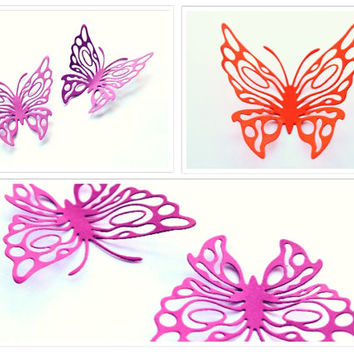 Luxury Elegant Butterflies, Wedding Butterflies, Bridal Shower Favors, 3d butterflies, Paper Butterflies, Wall Decor, Art, Bed Room, Wall