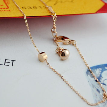 Cute Shiny New Arrival Sexy Gift Jewelry Stylish Ladies Titanium Anklet [8169869895]