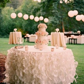 Romantic Ruffles Table Skirt